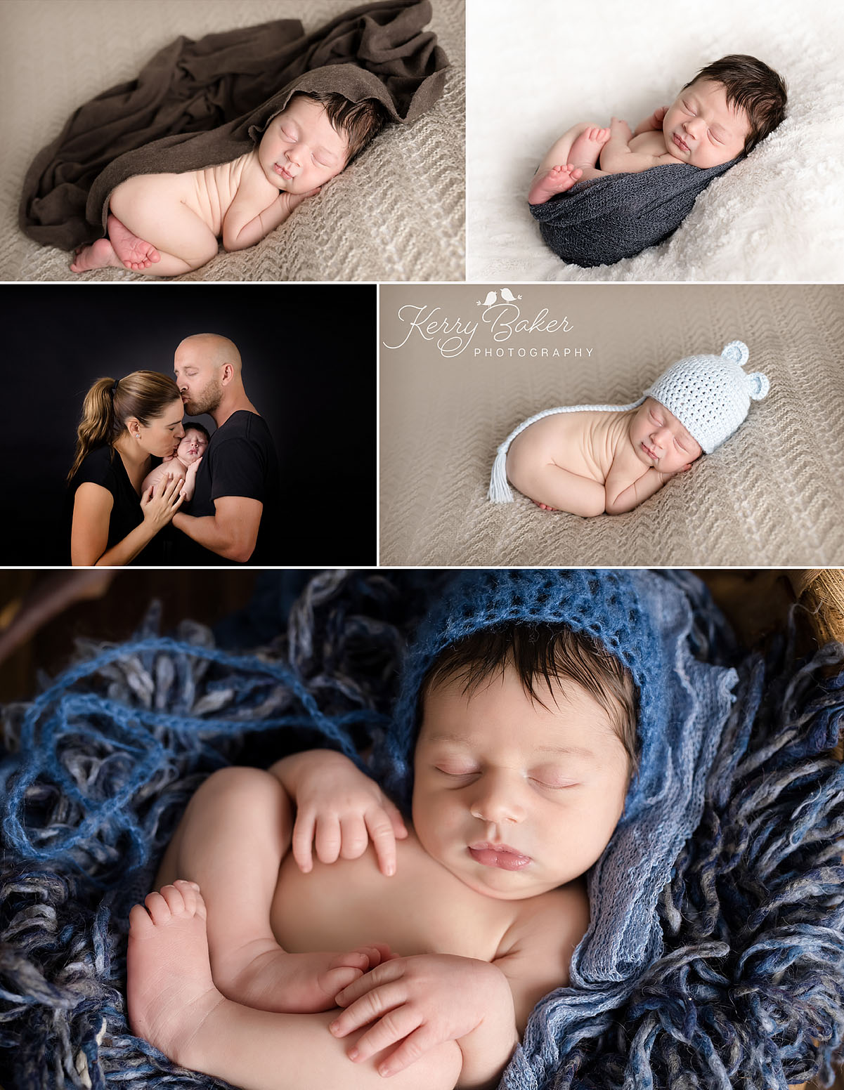 Newborn baby boy professional photos perth