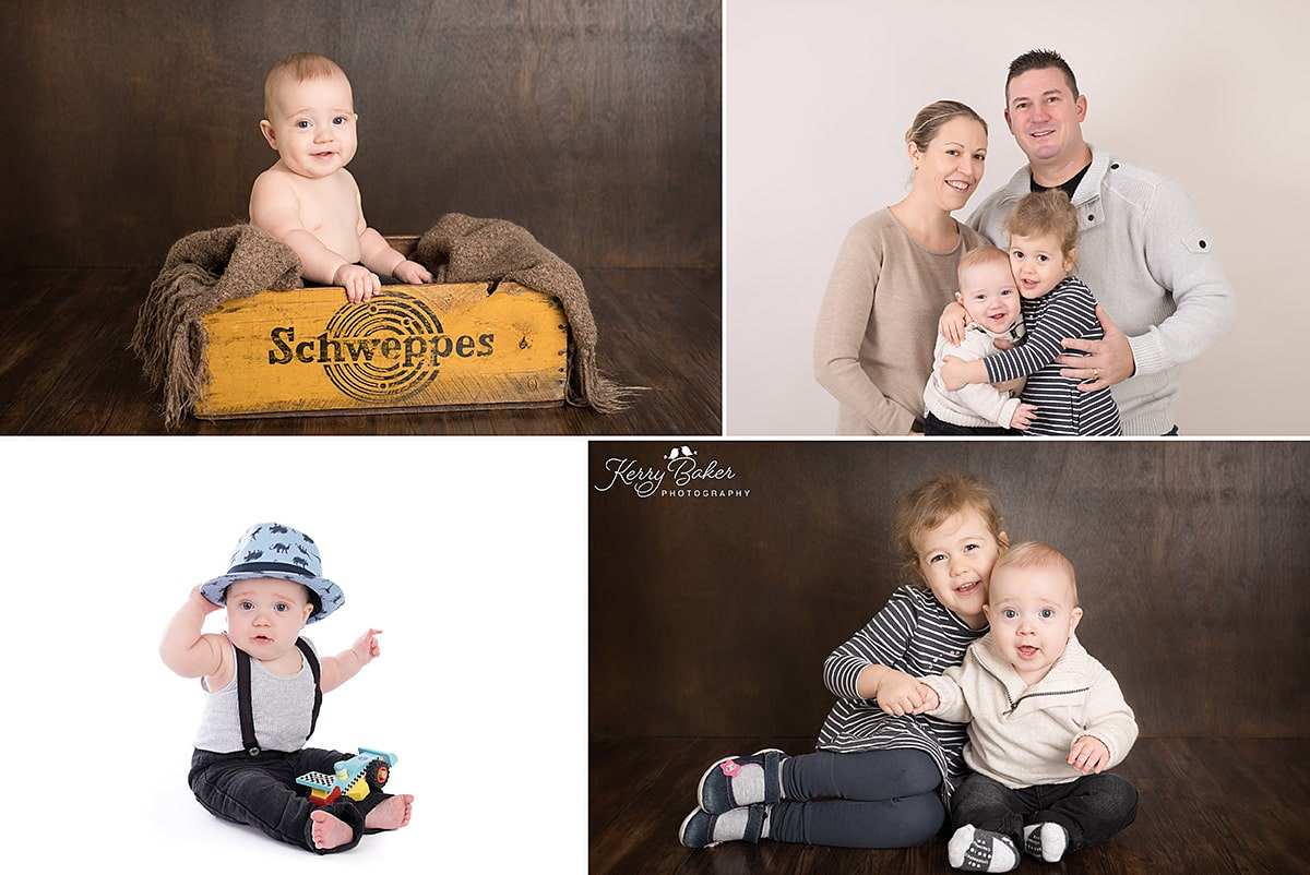 happy baby boy photos with family and big sister