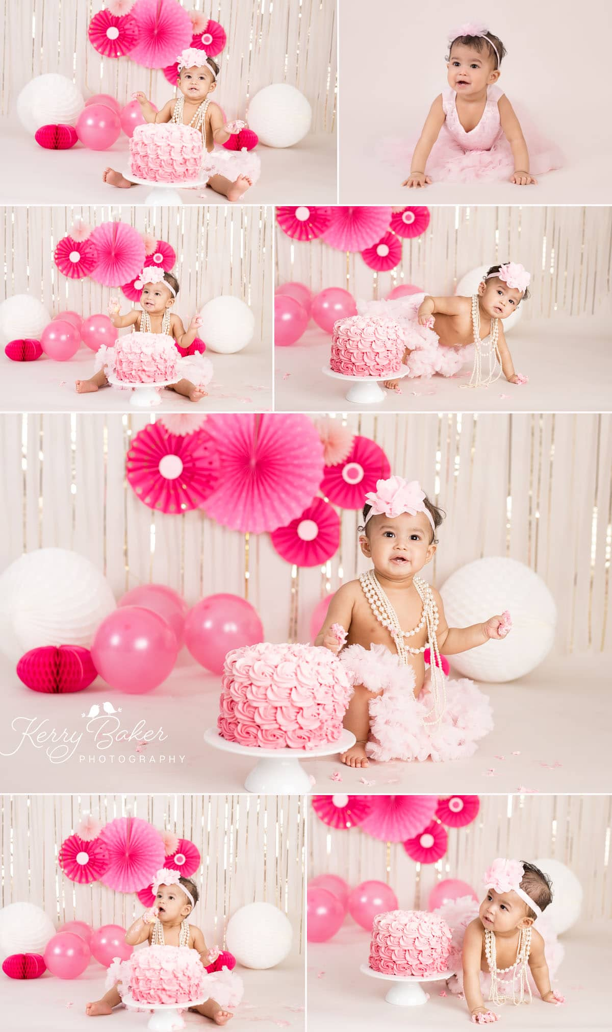 first birthday cake smash photos girl