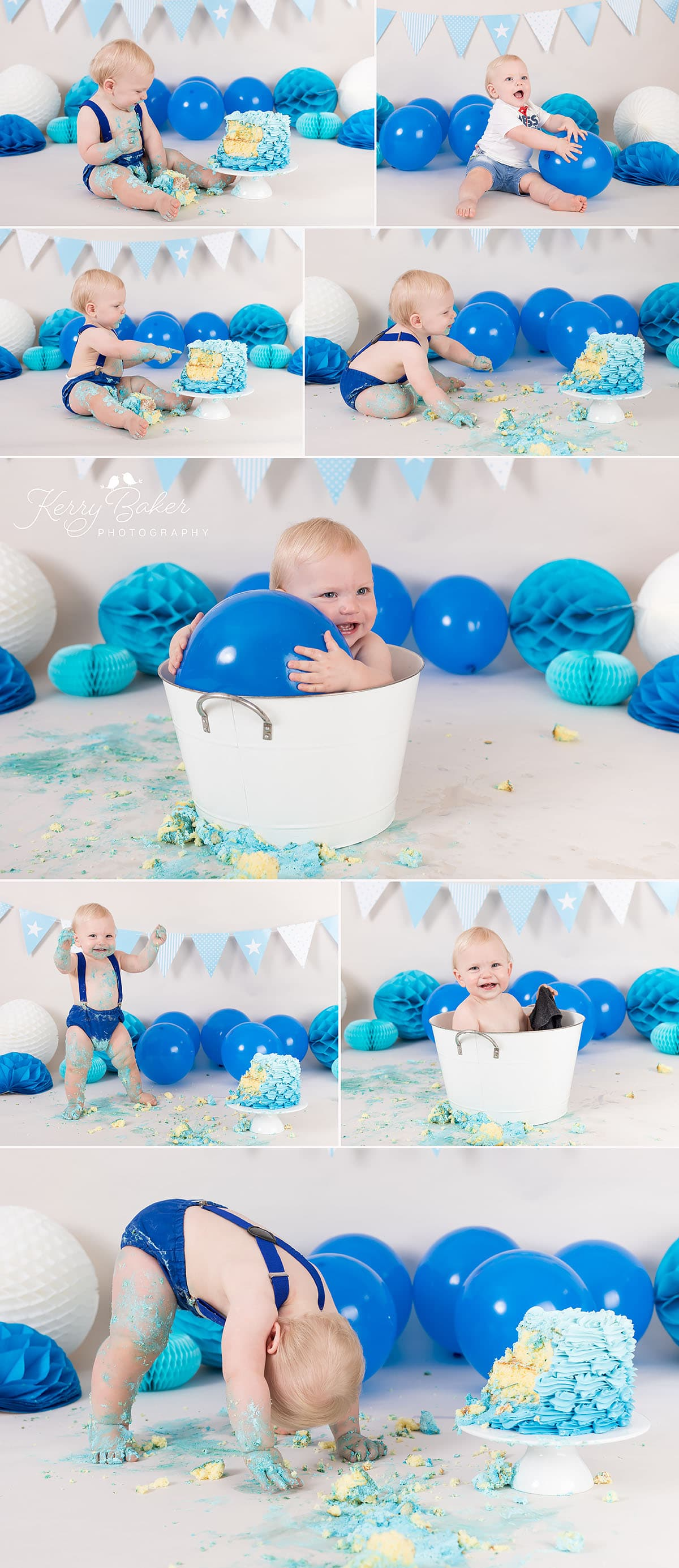 perth cake smash blue decorations 11 month old Hudson