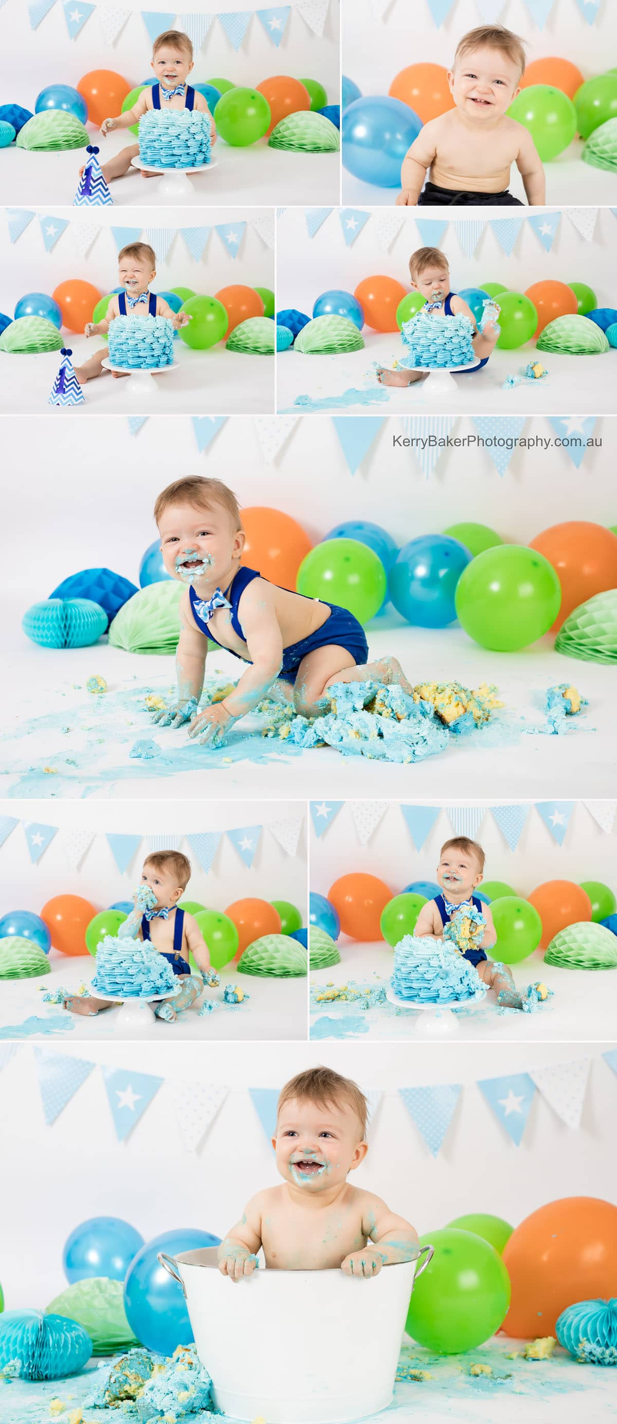 cake smash photos for baby boy
