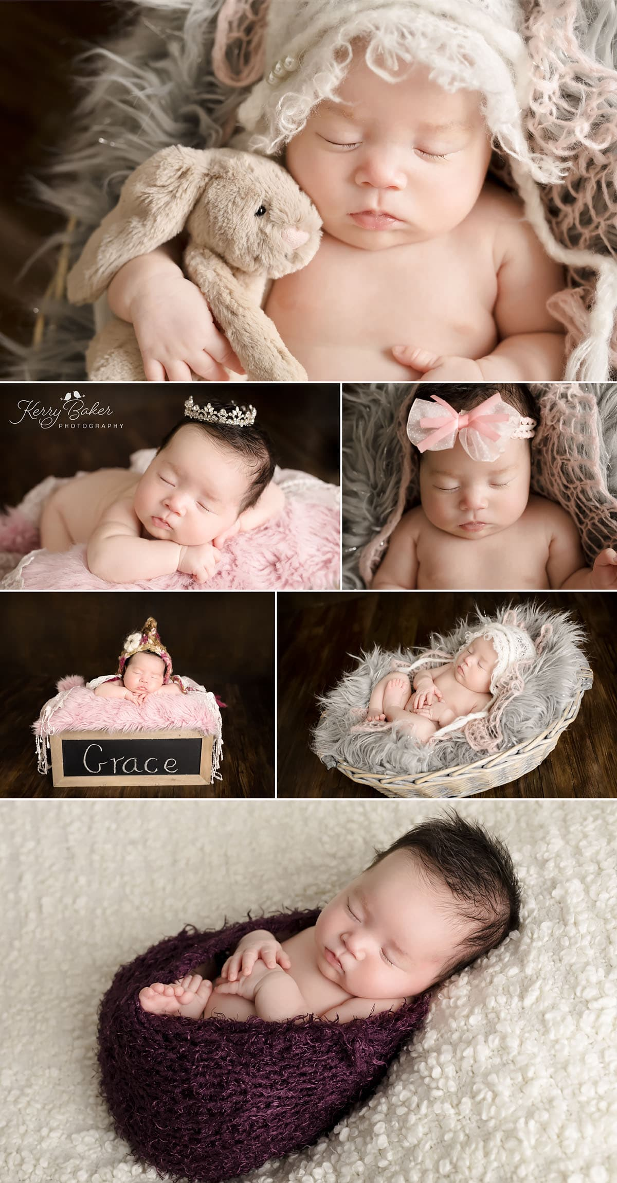 beautiful asian newborn baby girl