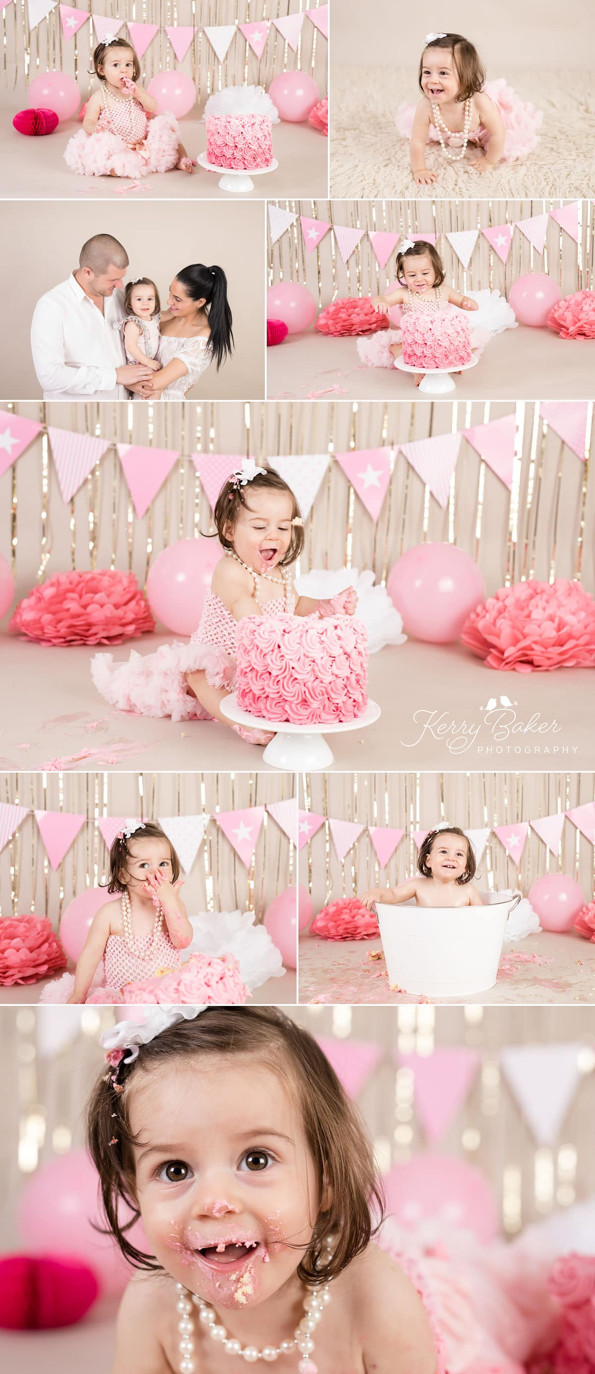 Cake smash photos in perth baby girl one year old