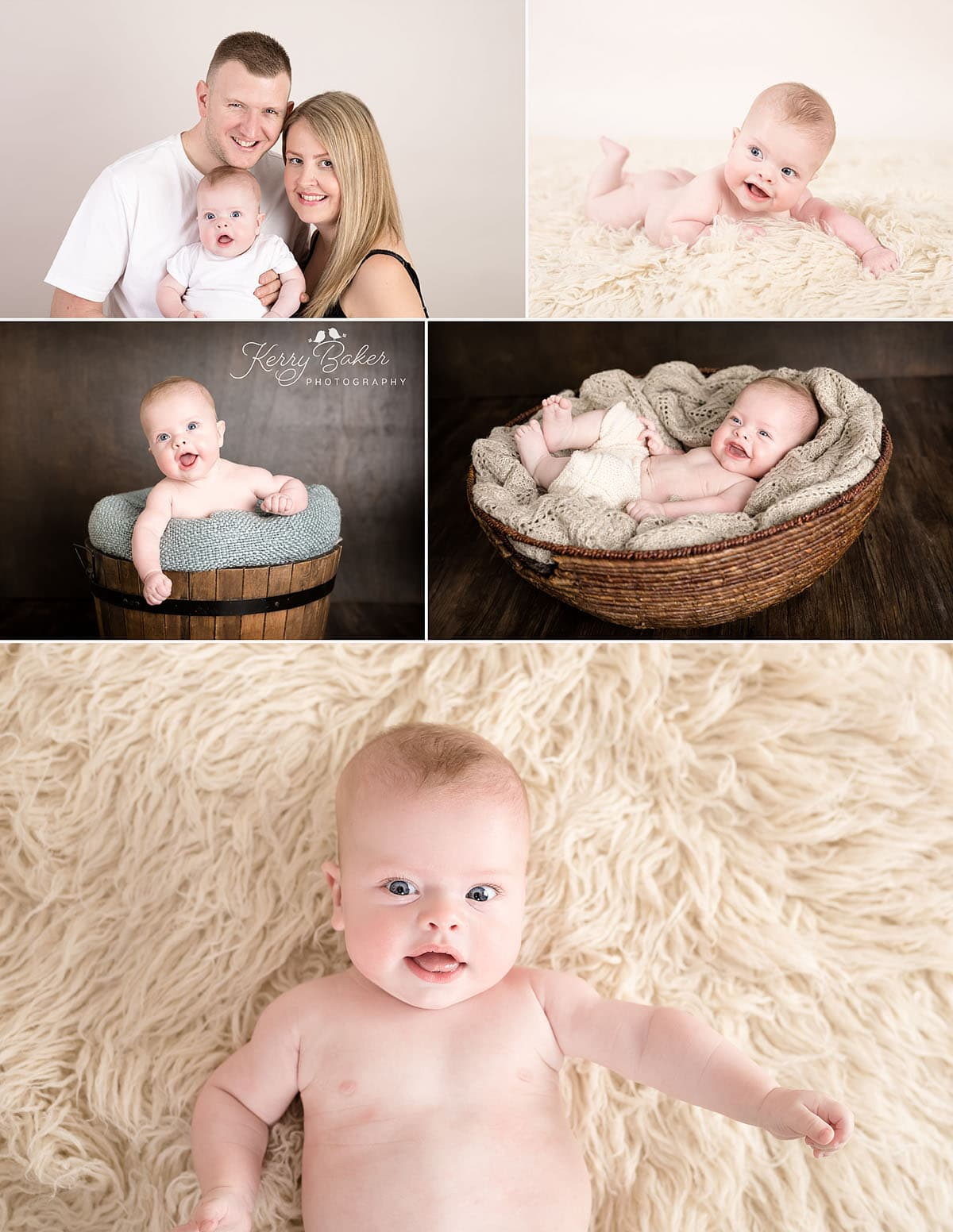 4 month old baby boy and family photos
