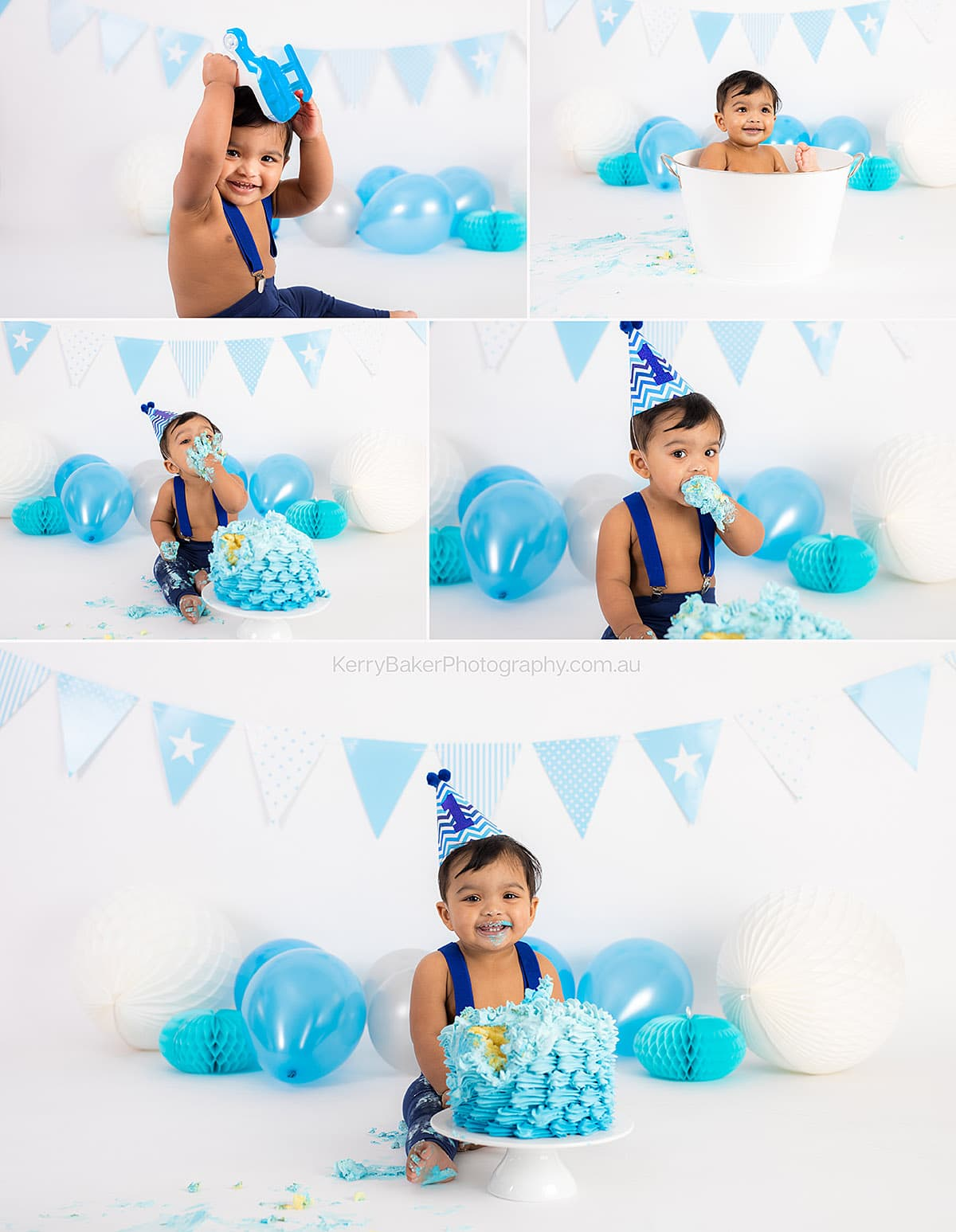 birthday boy cake smash photos