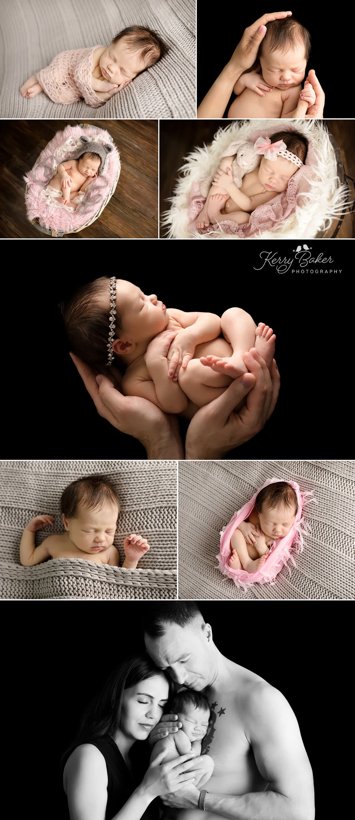 beautiful newborn photos baby on black