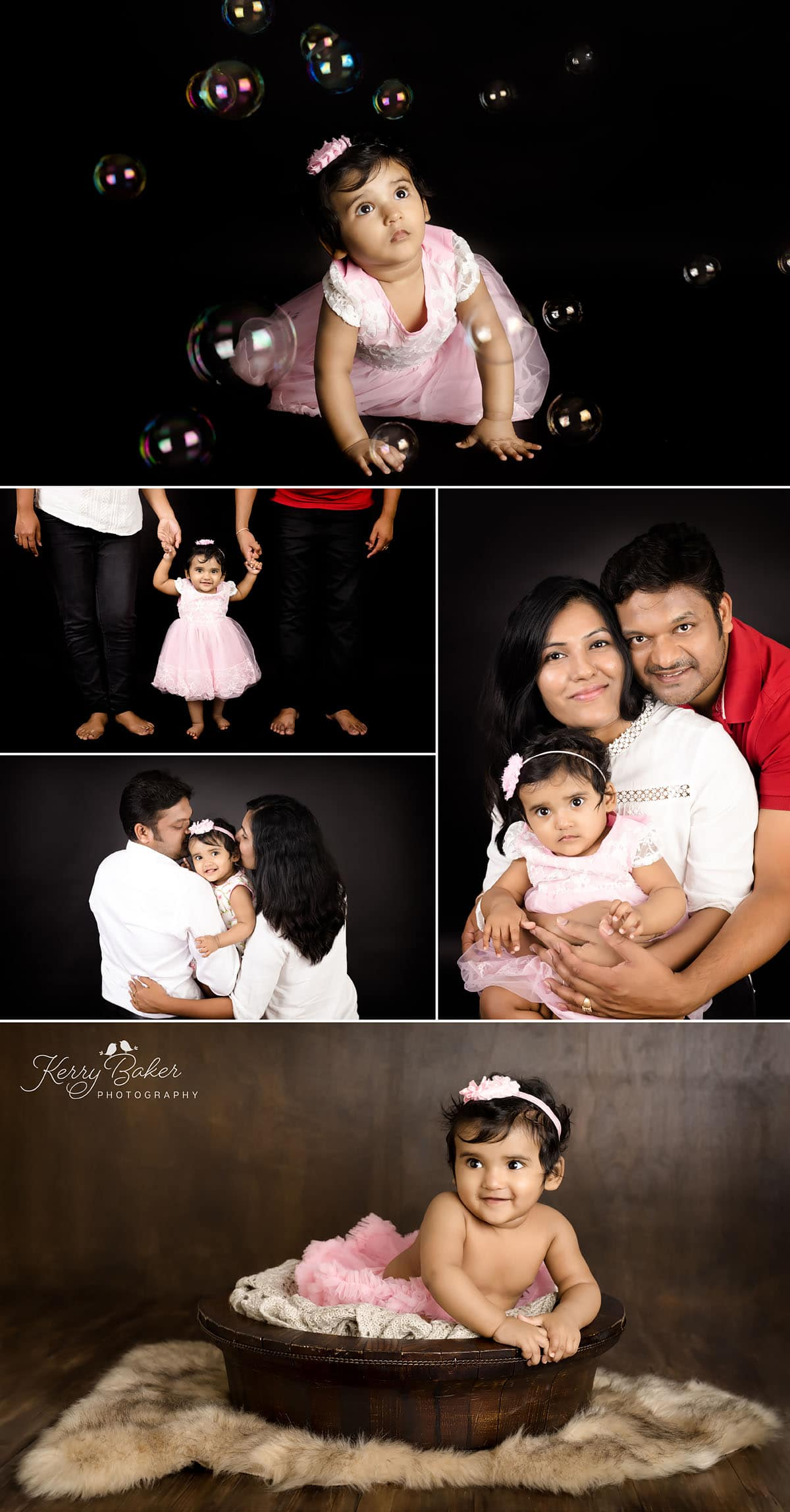 family photos with 9 month baby girl