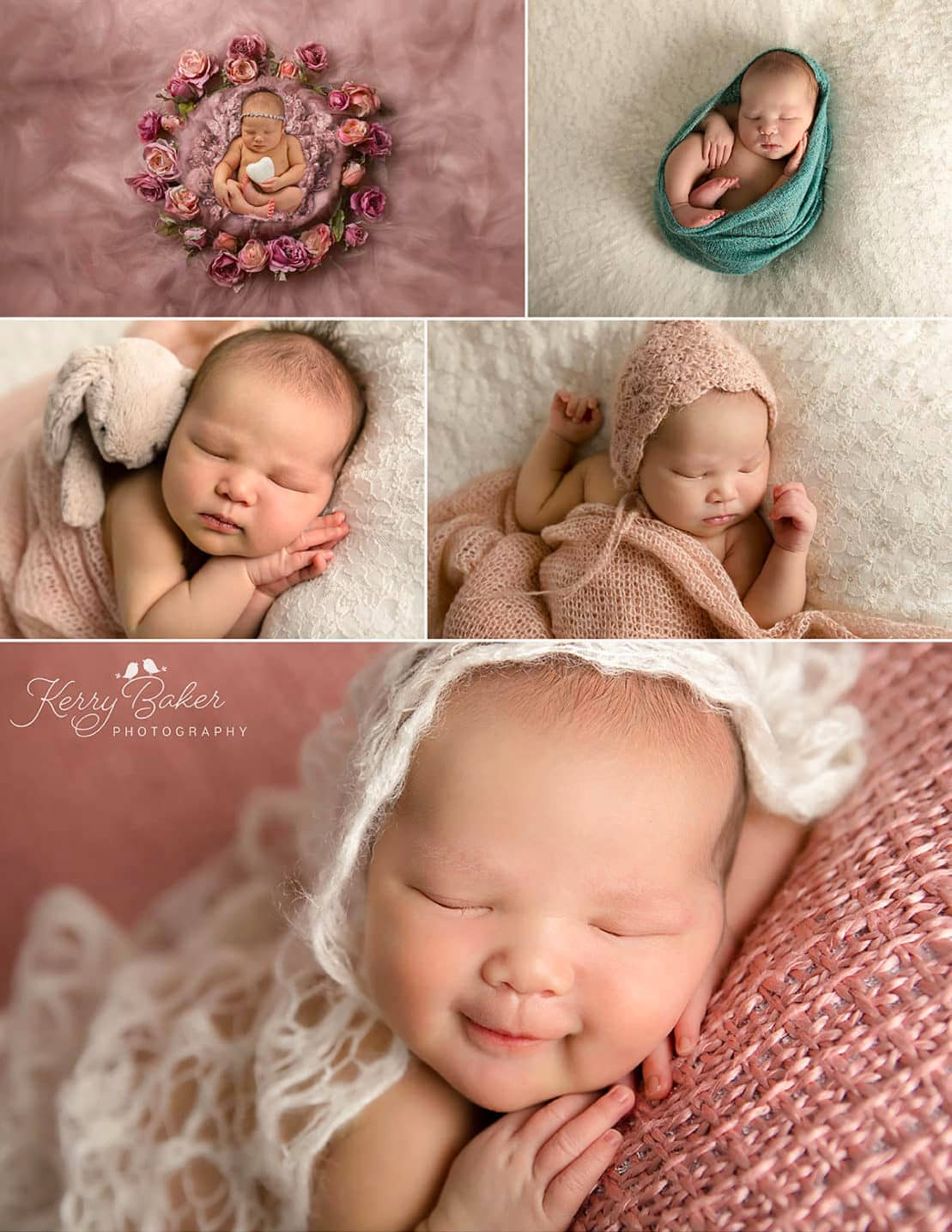 baby during newborn photo session